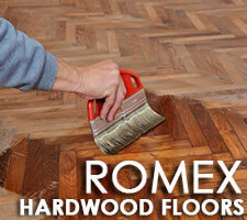 Marietta hardwood floor refinishing by experts at Romex.